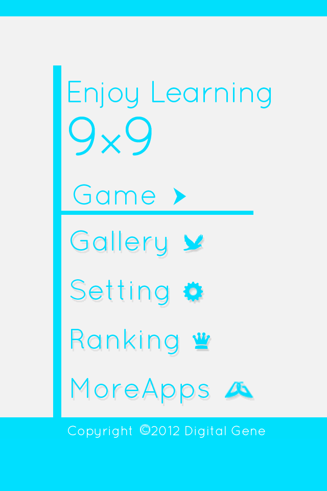 Screenshot Enjoy Learning 9×9